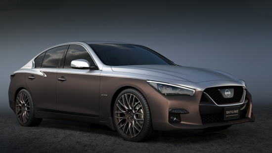 Nissan Skyline luxury sedan inspired a couple of concepts at the Tokyo show