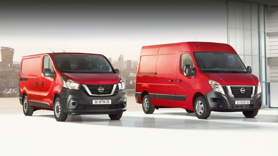 Nissan NV300 and NV400 models have been modified for the European market